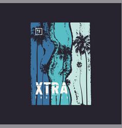 Extra tropics t-shirt design poster print vector