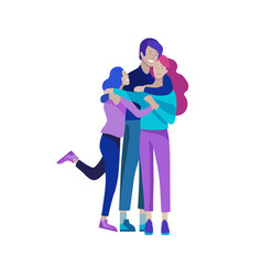 family spend time together happy parents with vector image