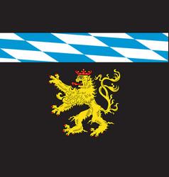 Flag of upper bavaria in bavaria germany vector
