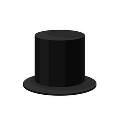 flat icon of male black top hat tall flat vector image
