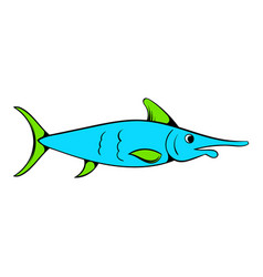 Fresh fish icon icon cartoon vector