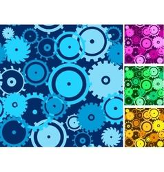 Gears seamless backgrounds set vector