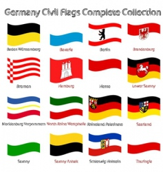 germany civil flags vector image