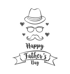 happy father day celebration style vector image