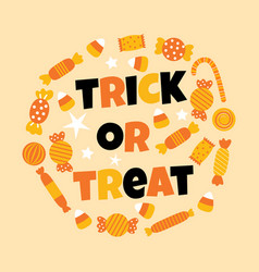 Happy halloween sweet candy vector