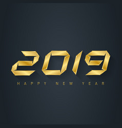 happy new year 2019 - elegnat greeting card with vector image