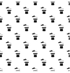 hat with hand pattern seamless vector image