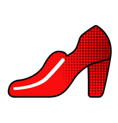 heeled shoe icon vector image