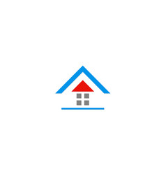 house roof icon logo vector image