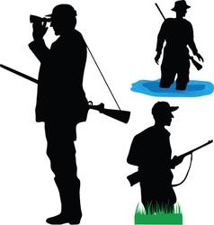 hunters wild animals vector image