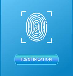 Identification fingerprint verification poster vector