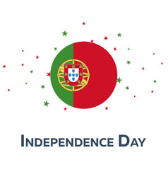 Independence day of portugal patriotic banner vector