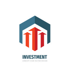 investment concept logo template design vector image