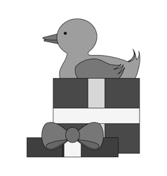 Isolated duck toy design vector image