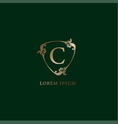 Letter c alphabetic logo design template luxury vector