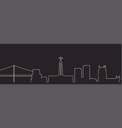 lisbon single line simple minimalist skyline vector image