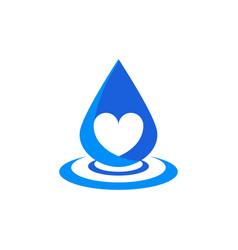love water drop vector image