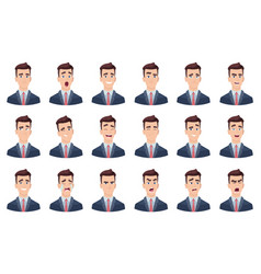 man emotions facial characters different faces vector image