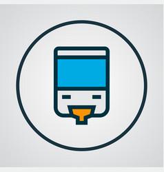 Monorail icon colored line symbol premium quality vector