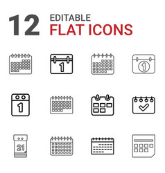 month icons vector image