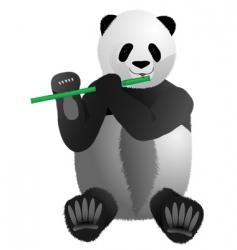 musical panda vector image