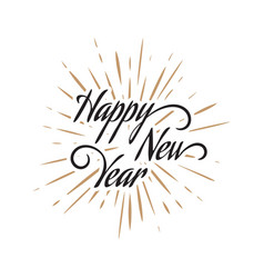new flat styles hand drawn happy new year 2020 vector image
