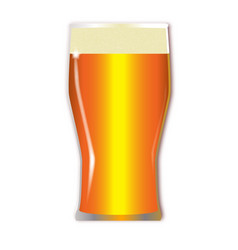 pint lager glass vector image