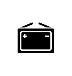 portable car battery electricity accumulator flat vector image