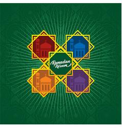 Ramadan colorful background design template vector
