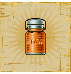 Retro Jam Jar vector image