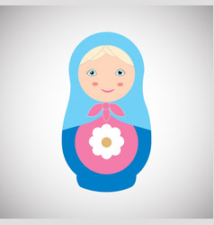 russian nesting doll vector image