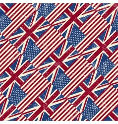 Seamless pattern with flags vector image vector image