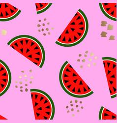 seamless watermelon geometric pattern vector image