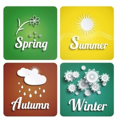 Seasons flat design vector