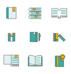 set books icon vector image