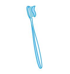 shadow toothbrush cartoon vector image
