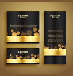 shiny golden bokeh luxury banner vector image