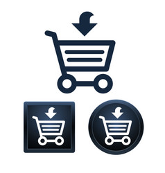 shopping icon set isolated vector image