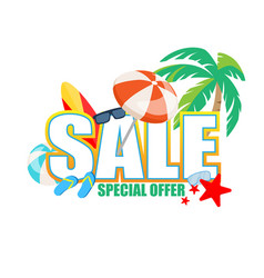 special offer sale banner summer vacation off vector image
