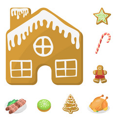 traditional christmas food and desserts holiday vector image