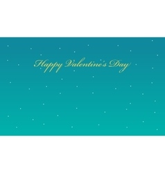 Valentine with star backgrounds vector image