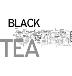 what is black tea text word cloud concept vector image