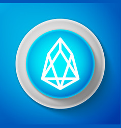 white cryptocurrency coin eos icon isolated vector image