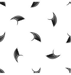 wing pattern seamless black vector image
