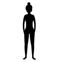 woman and yoga vector image