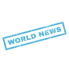 World News Rubber Stamp vector