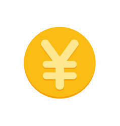 Yen currency symbol on gold coin vector