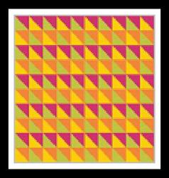 Bright multicolored seamless pattern Triangles vector image vector image