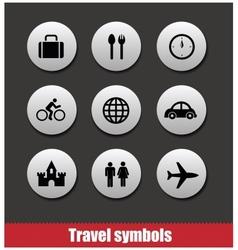 Travel symbols set vector