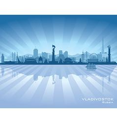 Vladivostok Russia skyline city silhouette vector image vector image